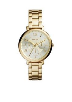 Fossil  Womens Gold-Tone Stainless Steel Jacqueline Multifunction Watc