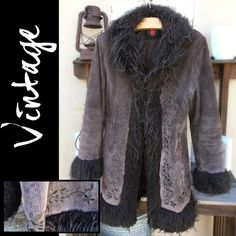 FABULOUS Vintage Suede Faux Fur Quilted Coat This jacket has amazing details and features! Lined and quilted,  embroidered, side slit pockets, & unique snap-tab closures. Seems to be gently worn but excellent condition! Would fit sm/med+ depending on how many layers you're wearing underneath. Throw it on over a pair of jeans and boots, confident you'll stay warm while looking fabulous! Please ask all questions prior to purchase. Vintage Jackets & Coats
