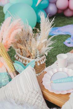 Boho Bloom Basket from a Boho Mermaid Party on Kara's Party Ideas   KarasPartyIdeas.com (22)