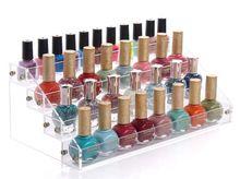 Nieuwe mode 2015 4 lagen vernis cosmetische make-up nagellak display stand rek houder organisator opbergdoos()