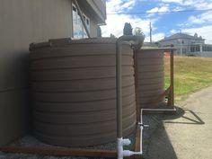 Making final connections on 2825 gallon tanks #rainwaterharvesting