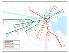 Unofficial Map: Boston Subway Time-Scale Map Peter Dunn from Stonebrown Design sent this map to me this morning for my thoughts, and it's definitely worth looking at. You may recall that Peter is also. Underground Map, Scale Map, Visual Thinking, Metro Map, Electrical Diagram, Boston Travel, Subway Map, In Boston, Data Science
