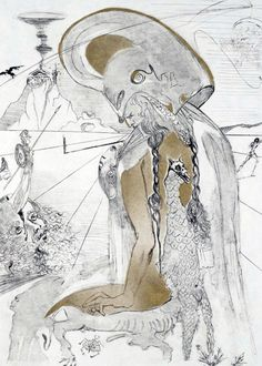 Athena, La Mythologie 1965 (Early)  by Salvador Dali - Engraving on Japan Paper