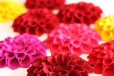 DIY Felt Dahlia Flower.