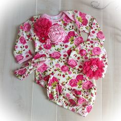 Newborn Girl Take Home Outfit, Newborn Girl Floral Gown, Newborn Layette,Baby Girl Take Home Outfit, Newborn Girl Layette by PoshBabyBlooms on Etsy https://www.etsy.com/listing/246091395/newborn-girl-take-home-outfit-newborn