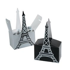 Eiffel Tower Favor Boxes -Can be an easy diy  to make it your own.Could add a monogram as well or order from OrientalTrading.com
