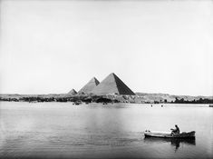"""Oh the places water takes you.  """" The Nile River flooding by the Giza Pyramids. October 31, 1927. """""""