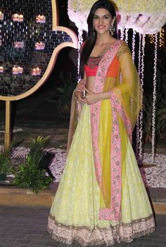 Bollywood Style Kriti Sanon Net and Georgette Lehenga In Yellow Colour Yellow Colour Net and Georgette Fabric Designer Bollywood Lehenga Comes With Velvet Fabric Blouse Which Can Be Stitched Up. Bollywood Lehenga, Lehenga Choli, Bollywood Fashion, Bollywood Style, Bollywood Images, Anarkali, Indian Celebrities, Bollywood Celebrities, Bollywood Actress