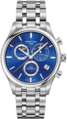 Certina Watch DS-8 Chrono Moon Phase #add-content #basel-16 #bezel-fixed…