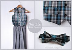 Perfect boys wedding outfit found at Nastiin handmade clothing studio