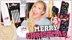 WHAT I GOT FOR CHRISTMAS  HUGE GIVEAWAY 2016! Kylie Makeup IPhone 7 Accessories & More!  (Open!) http://youtu.be/cQzRiWFWjHE Emily Olson