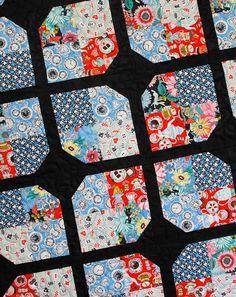 Wonderland Quilt made with Wonderland fabrics from Blend Fabrics (close up)