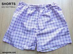 How to sew shorts- 3 free diy patterns & sewing tutorials - sew guide Shorts Diy, Sewing Shorts, Sewing Clothes, Diy Clothes, Baby Clothes Patterns, Dress Sewing Patterns, Clothing Patterns, Costume Patterns, Short Denim