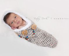 Native American Newborn Cocoon Papoose-native american newborn cocoon papoose,baby photo prop,newborn photography prop,handmade crochet cocoon for newborn