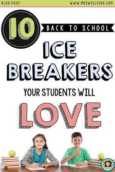 10 Back to School Ice Breakers Your Students Will Love: Use your time doing something else besides creating ice breakers this back-to-school season!  Take a look at these 10 ice breakers that each ask unique questions to the students per activity.