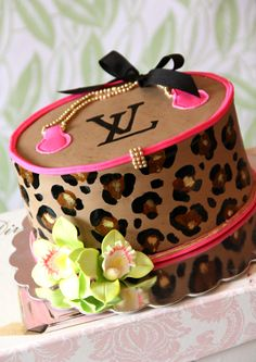 Leopard Louis Vutton Cake by Elise's Pieces Decorated Cakes