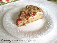 Raspberry Cream Cheese Coffeecake from Buttoni's Low Carb Low Carb Deserts, Low Carb Sweets, Paleo Sweets, Almond Recipes, Low Carb Recipes, Cooking Recipes, Atkins Recipes, Free Recipes, Healthy Recipes