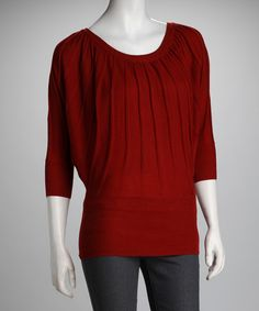 Take a look at this French Brandy Dolman Top by Derek Heart on #zulily today!