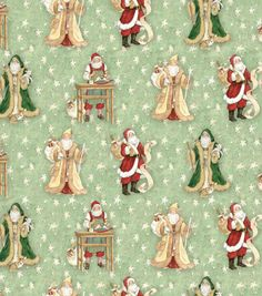 Holiday Inspirations Fabric-Woodland Santa