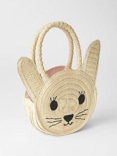 Straw bunny tote | Gap