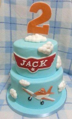Disney planes 2 tier cake - CakesDecor