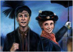 Bert and Mary Poppins by daekazu.deviantart.com on @deviantART