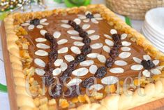 mazurek kajmakowy z orzechami Waffles, Pancakes, Gimme Some Sugar, Apple Pie Bars, Polish Recipes, Polish Food, Pumpkin Cheesecake, Nutella, Baking