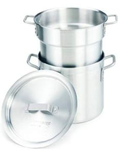 Crestware 20 Quart Aluminum Quarter Capacity. -- Learn more by visiting the image link. We are a participant in the Amazon Services LLC Associates Program, an affiliate advertising program designed to provide a means for us to earn fees by linking to Amazon.com and affiliated sites.