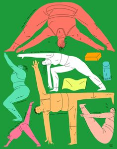 Client: N/A Project: Stretch Series Series of illustration about yoga - for every body! Made for part of the group show at Project Object 2017 Yoga Illustration, People Illustration, Character Illustration, Yoga Art, Grafik Design, Portrait Art, Cute Art, Art Inspo, Illustrators