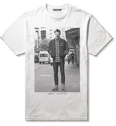 ADOLF HIPSTER T-SHIRT - Hype_Indie_Swag_Supreme ly Funny_Comedy_Hitler_Cheapside
