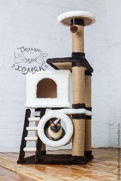 Diy Cat Tree, Cat Tree Condo, Cat Condo, Cat Castle, Animal Gato, Cat Towers, Wooden Cat, Cat Scratcher, Cat Room