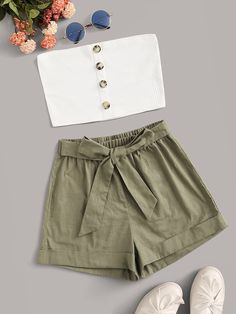 Really Cute Outfits, Cute Comfy Outfits, Cute Girl Outfits, Cute Summer Outfits, Pretty Outfits, Stylish Outfits, Summer Shorts, Teenage Girl Outfits, Girls Fashion Clothes