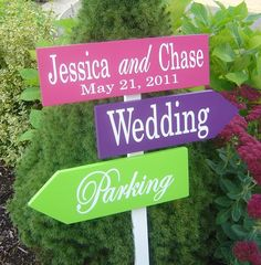 Wedding Sign. Custom Wedding Directional by OurHobbyToYourHome