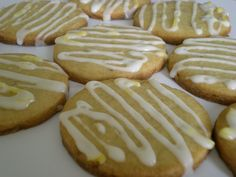 candied ginger cookies  recipe from  http://www.marthastewart.com/342195/lemon-glazed-candied-ginger-cookies
