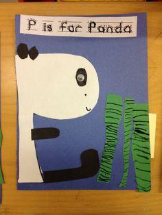 the letter p preschool kindergarten craft activity p is for panda