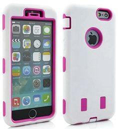 """myLife Shockproof Rubberized Security Armor for iPhone 6 Plus (5.5"""" Inch) by Apple {Pure White and Pink """"Smooth Tough with Kickstand"""" Three Piece TUFF-Fit Full Body Case} myLife Brand Products http://www.amazon.com/dp/B00PCM8CUQ/ref=cm_sw_r_pi_dp_3o6yub10SBGFC"""