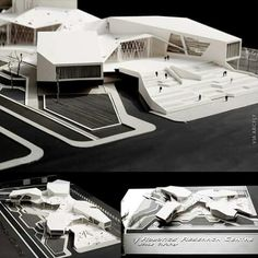 Robotics research center Via : Maquette Architecture, Architecture Concept Diagram, Futuristic Architecture, School Architecture, Art And Architecture, Computer Architecture, Ancient Architecture, Archi Design, Hospital Design