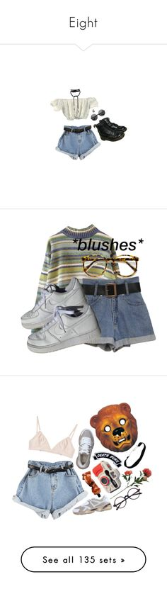 """""""Eight"""" by brownbxtchpinkwitch ❤ liked on Polyvore featuring Dr. Martens, NIKE, Puma, The Nude Label, Aesop, Kreepsville 666, Threshold, Dolce&Gabbana, Superga and E.vil"""