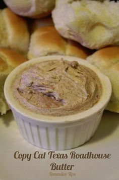 Copy Cat Texas Roadhouse Butter Recipe perfect for rolls! So easy to make and tastes amazing! Have your favorite restaurant meal at home!