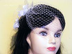 Voile de mariage de cage à oiseaux et un sac, fleur voile de mariée : Accessoires coiffure par arterabridalveil