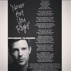 Never Get You Right - The Desired Effect - Brandon Flowers