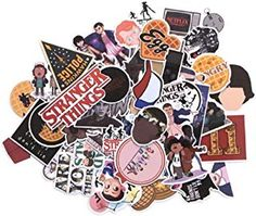Stranger Things Themed Decal Stickers Assorted Lot of 66 Pieces