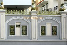 House Wall Design, Front Wall Design, House Main Gates Design, House Fence Design, Exterior Wall Design, House Outside Design, Door Gate Design, Bungalow House Design, Boundry Wall