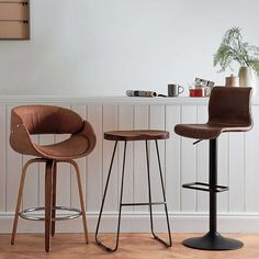 Torcello Black Bar Chair | Dunelm