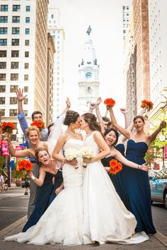 Philly Wedding. Wedding party. Megan & Katie's Complete Fairytale Wedding Photo By Tara.Beth.Photography