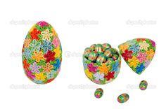 Flower quilled Easter egg