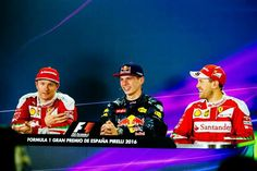 Spain Kimi, Max and Seb have a laugh. Ricciardo F1, Daniel Ricciardo, F1 Motor, Spanish Grand Prix, The Iceman, F1 Drivers, World Of Sports, Have A Laugh, F 1