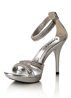 Beautiful Ivory shoes adorned with AB iridescent stones and 4 inch heel at Rsvp Prom and Pageant, Atlanta, GA. Perfect for Prom, Pageant, wedding or any formal event Silver Heels Wedding, Silver Wedding Shoes, Ankle Strap Heels, Ankle Straps, Ivory Shoes, Giuseppe Zanotti Heels, Blue Heels, High Heels, Prom Heels
