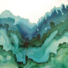 Tobias Tovera and abstract watercolor Green Watercolor, Abstract Watercolor, Watercolour Painting, Watercolor On Wood, Watercolor Artists, Watercolor Design, Abstract Oil, Abstract Paintings, Oil Paintings