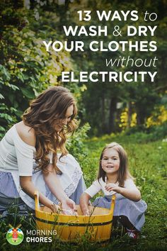 Sure, washing machine are great. But if you're off the grid and need to wash your clothes manually without electricity, here are 13 alternatives for you.